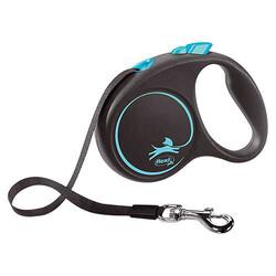 Flexi - Flexi Black Design 5 m Şerit Tasma S Mavi