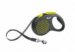Flexi - Flexi Design 5 m Şerit Tasma S Sarı
