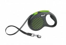 Flexi - Flexi Design 5 m Şerit Tasma S Yeşil