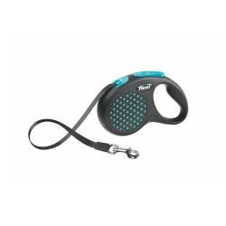 Flexi - Flexi Design - Şerit Köpek Tasması S Mavi 5 m