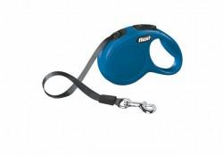 Flexi - Flexi New Classic 3 m Şerit Tasma XS Mavi