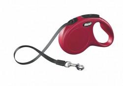 Flexi - Flexi New Classic 5 m Şerit Tasma S Kırmızı