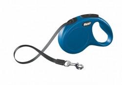 Flexi - Flexi New Classic 5 m Şerit Tasma S Mavi