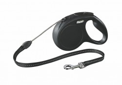 Flexi - Flexi New Classic 8 m İp M Siyah