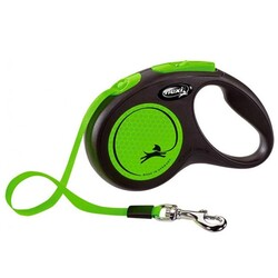 Flexi - Flexi New Neon Yeşil M 5m Şerit Tasma