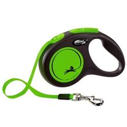 Flexi - Flexi New Neon Yeşil S 5m Şerit Tasma