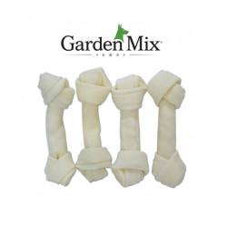 Garden Mix - Gardenmix Beyaz Düğüm Deri Kemik 12-13 cm/4 lü