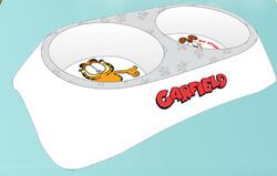 Garfield - Garfield Çiftli Melamin Mama Su Kabı