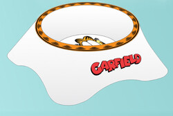 Garfield - Garfield Tekli Melamin Mama Su Kabı