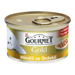 Nestle Purina - Gourmet Gold Hindili ve Ördekli Kedi Konservesi 85g 24 lü
