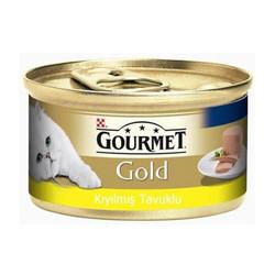 Nestle Purina - Gourmet Gold Kıyılmış Tavuklu Konserve Kedi Maması 85g 24 lü