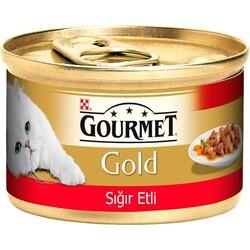 Nestle Purina - GourmetGold Parça Etli ve Soslu Sığır Etli Konserve 85gr