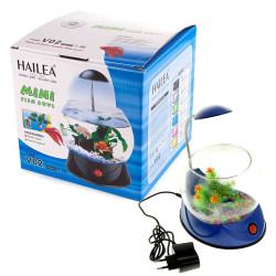 Hailea - Hailea V02 Led Işıklı Mini Fanus Mavi 1,8 L