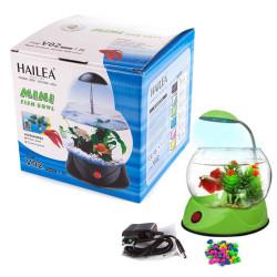 Hailea - Hailea V02 Led Işıklı Mini Fanus Yeşil 1,8 L