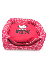 Hello Kitty - Hello Kitty 3 Fonksiyonlu Küp Kedi Evi Yatağı Kırmızı