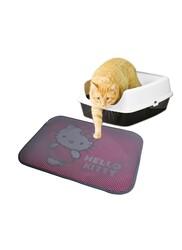 Hello Kitty - Hello Kitty Çift Katmanlı Kedi Kumu Paspası Dikdörtgen Pembe