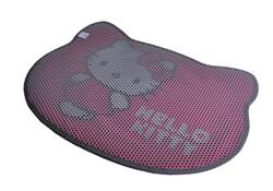 Hello Kitty - Hello Kitty Çift Katmanlı Kedi Kumu Paspası Pati Pembe