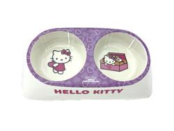 Hello Kitty - Hello Kitty Çiftli Melamin Mama Su Kabı