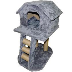 Fatih-Pet - İki Katlı Merdivenli Kedi Evi Tırmalama