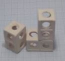 Liya - İkiz Küp Karides Yuvası 2x2x3,5cm