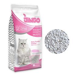 Jingo - Jingo Bebek Pudra Kokulu Bentonit Kedi Kumu Kalın Taneli 10 L