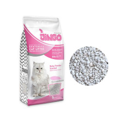 Jingo - Jingo Bebek Pudra Kokulu Bentonit Kedi Kumu Kalın Taneli 5 L