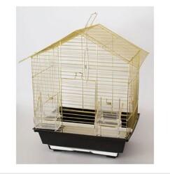Getreide - Kafes Üçgen Çatılı Pirinç 30x23x39cm