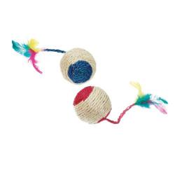 Karlie - Karlie Çıngıraklı Hasır Top Karışık Renkli 6 cm