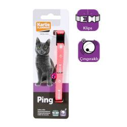 Karlie - Karlie Kedi Tasması Çıngıraklı 30 cm Pembe