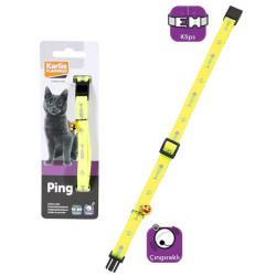 Karlie - Karlie Kedi Tasması Çıngıraklı 30 cm Sarı