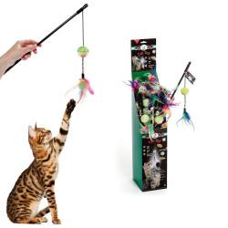 Karlie - Karlie Tüylü Kedi Oltası 50 cm
