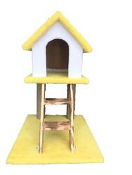 Little Friends - Kedi Evi ve Tırmalama Merdivenli 50*60*84 cm