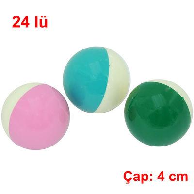 Kedi Plastik Top Oyuncağı Küçük 4 cm 24 lü