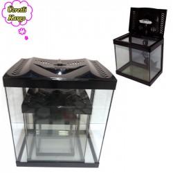 Fatih-Pet - Led Işıklı Üçlü Set Siyah Akvaryum