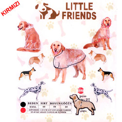 Little Friends - Little Friends Büyük Irk Şeffaf Yağmurluk Kırmızı XXXL