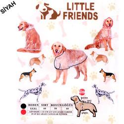 Little Friends - Little Friends Büyük Irk Şeffaf Yağmurluk Siyah XXXL