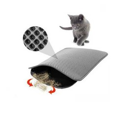 Little Friends - Little Friends Elekli Kedi Tuvalet Paspası Gri 45x60 cm
