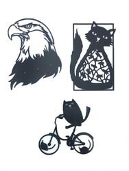 Little Friends - Little Friends Kedi Temalı Yapışkanlı Duvar Dekoru