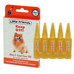 Little Friends - Little Friends KeepOff! 0-10 Kg Köpekler için Ense Damlası 5x1 ml