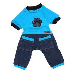 Little Friends - Little Friends Köpek Slopet Patili Mavi Jean 6 lı