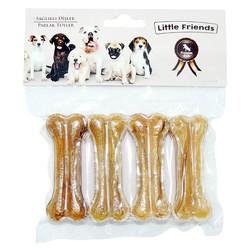 Little Friends - Little Friends Naturel Pres Kemik 7 cm/20-25g 4 lü