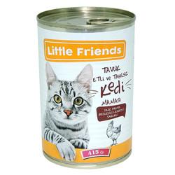 Little Friends - Little Friends Tavuklu Kedi Konservesi-Tahılsız 415gr 24 lü