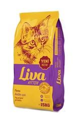 Liva - Liva Tavuk Etli Yavru Kedi Maması 15 Kg