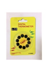 Liya - Liya LY308C Mini Yuvarlak Digital Derece Thermometer LCD