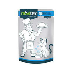 Master - Master Balıklı Pouch Kedi Maması 80g/24 lü