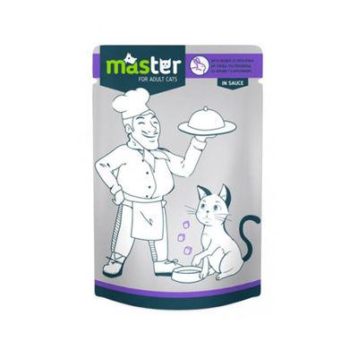 Master Tavşan Etli Pouch Kedi Maması 80g/24 lü