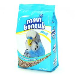 Mavi Boncuk - Mavi Boncuk Kabuklu Muhabbet Kuşu Yemi 500g 12 li