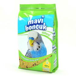 Mavi Boncuk - Mavi Boncuk Kabuksuz Muhabbet Kuşu Yemi 400g 12 li
