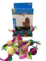Maxilife - Maxi Life CTM00096 Kedi Oyuncağı Tüylü Örgü Top