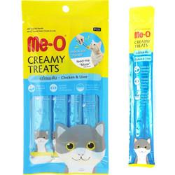 ME-O - ME-O Creamy Treats Chicken & Liver - Tavuklu Ciğerli Krem Kedi Ödülü 60g/12 li